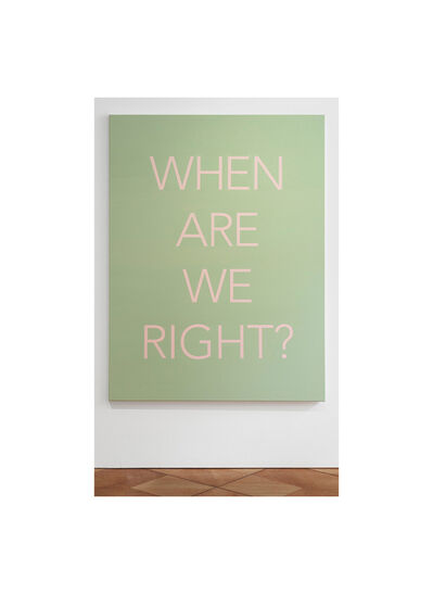 Isaac Chong Wai, 'Question #2: When Are We Right?', 2021