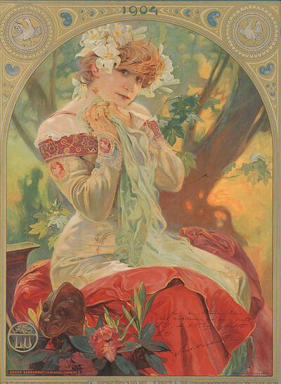 Alphonse Mucha, 'Sarah Bernhardt - La Princesse Lointaine - Lefèvre Utile,', 1904
