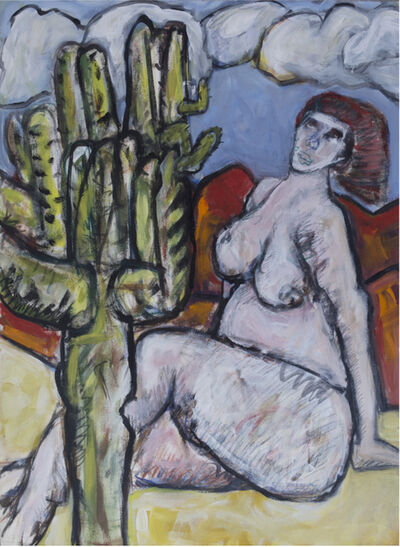 Barry Wolfryd, 'Nude with Cactus'