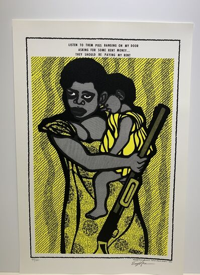 Emory Douglas, 'They Should Be Paying My Rent', 2008