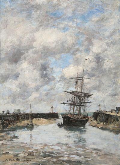 Eugène Boudin, 'Trouville, Chenal marée basse', 1889