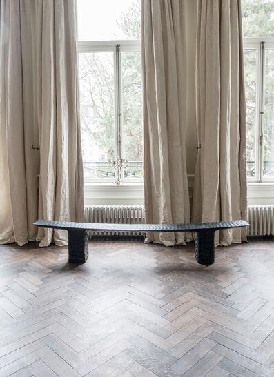 Kaspar Hamacher, 'Chiseled Black Bench', 2020