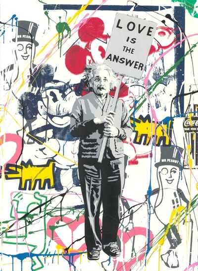 Mr. Brainwash, 'Einstein meets Mickey', 2019