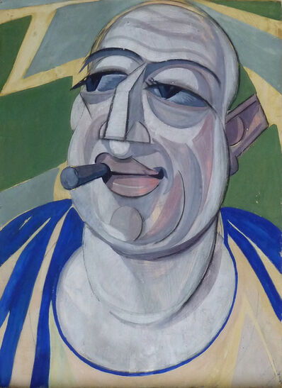 Hugó Scheiber, 'Self Portrait with Cigar', ca. 1930's