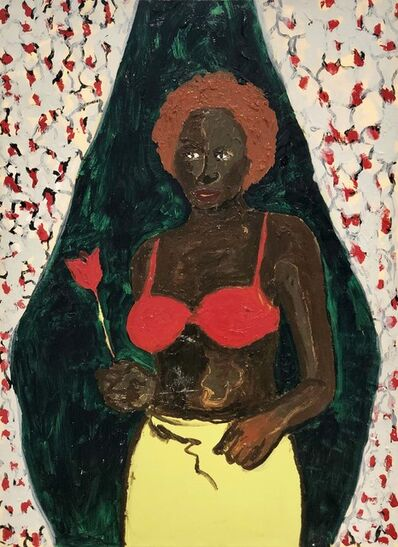 Gideon Appah, 'Portrait of a Half Nude Woman', 2018