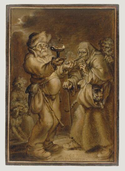 Adriaen Pietersz van de Venne, 'Moralizing Scene with an Old Woman and a Man', 1631