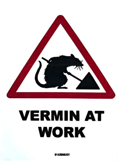 Banksy, 'Rat: Vermin at Work', 2004