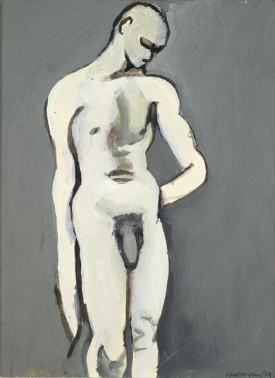 Keith Vaughan, 'Grey Bather', 1954