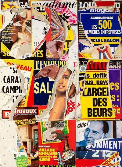 Jacques Villeglé, 'Carrefour Arts & Métiers', 1987