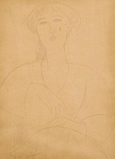 Amedeo Modigliani, 'Buste de Jeune Fille'