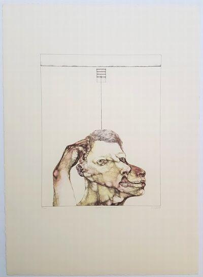 Reiner Schwarz, 'Selbstbildnis (huendisch)', 1972