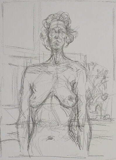 Alberto Giacometti, 'Nude with Flowers | Nu aux fleurs', 1960