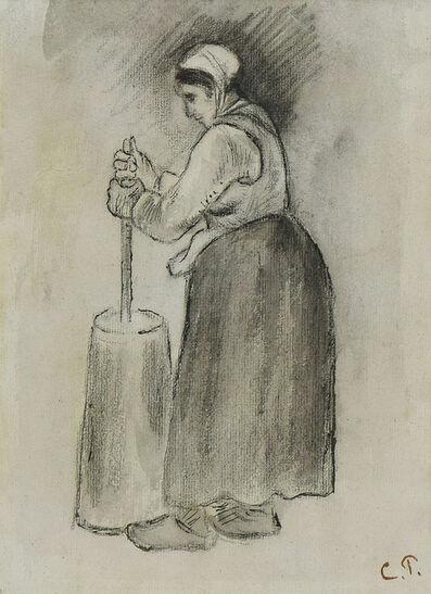 Camille Pissarro, 'Paysanne Barattant', 19th century