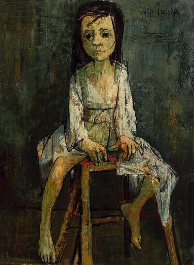 Jean Jansem, 'Portrait of a Young Girl'