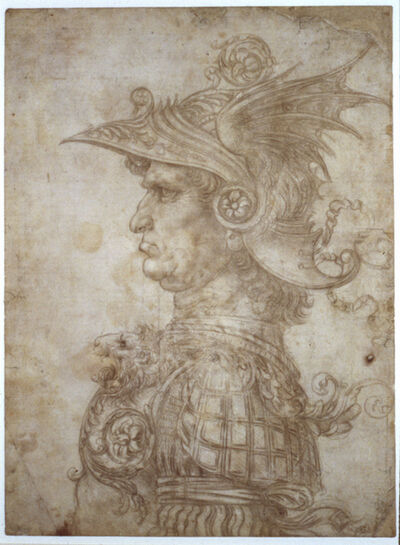Leonardo da Vinci, 'Bust of a warrior', c. 1475