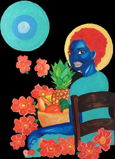 Amani Tamba, 'La fille au panier de fruits', 2019