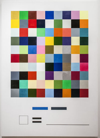 William Powhida, 'Palette I', 2014