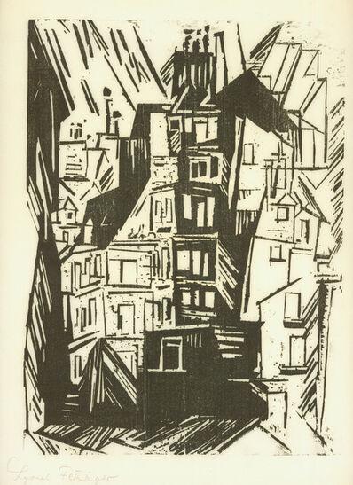 Lyonel Feininger, 'PARISER HÄUSER', 1920