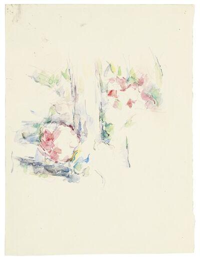 Paul Cézanne, 'Tronc d'arbre et fleurs', ca. 1900