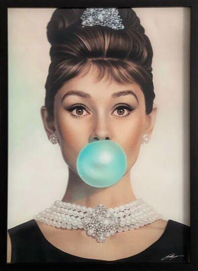 Michael Moebius, 'Audrey Tiffany Blue Lenticular', 2019