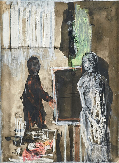 Jean Jansem, 'Untitled (Two Figures)', ca. 1970's