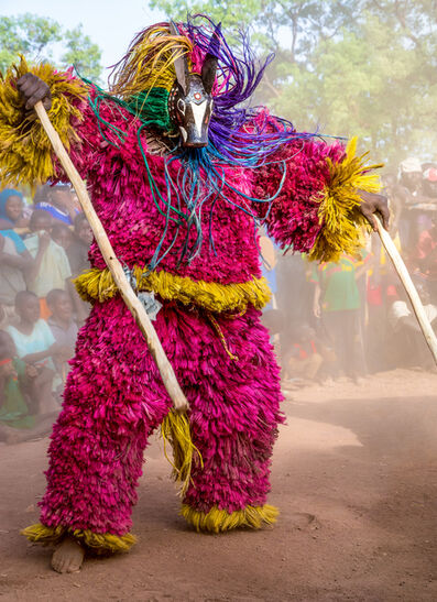 Carol Beckwith and Angela Fisher, 'Raffia Animal Mask, Burkina Faso', 2014