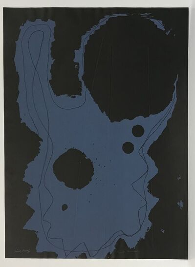 Louise Nevelson, 'Untitled (Black Paper, Blue Ink, Embossed)', 1965-66