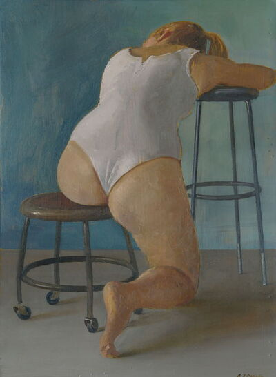 Andrew S. Conklin, 'Paige Seated in White Leotard', 2014