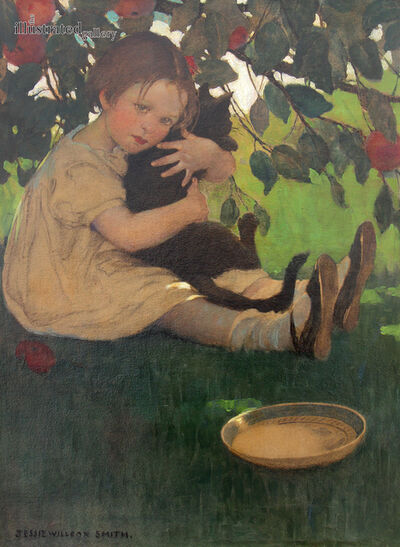 JESSIE WILLCOX SMITH, 'I Love my Little Cat', ca. 1930