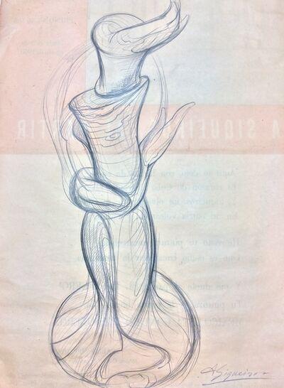 David Alfaro Siqueiros, 'Boceto para escultura pintura Antorcha'