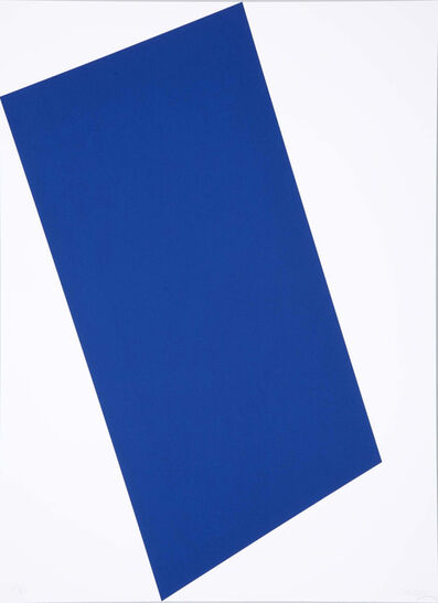Ellsworth Kelly, 'Blue (for Leo) from the portfolio of Leo Castelli's 90th Birthday', 1997