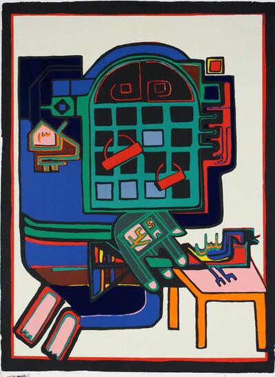 Parviz Tanavoli, 'Oh! Nightingale (design for rug)', 1974