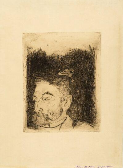 Paul Gauguin, 'Portrait de Stéphane Mallarmé (Mongan/Kornfeld/Joachim 12 II Ba)', 1891