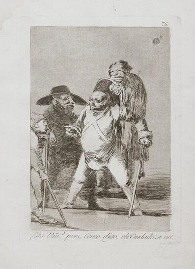 Francisco de Goya, 'Esta...Pues,Como Digo...Eh! Cuidado! Si No!', 1799