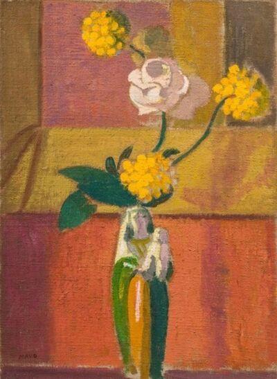 Maurice Denis, 'Rose blanche dans un vase en forme de Vierge', 1870-1943