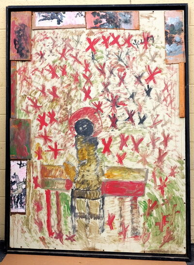 Purvis Young, 'Purvis Young, Jazz Angel, Acrylic on Wood circa 1990', ca. 1990