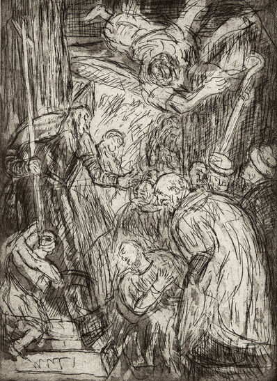 Leon Kossoff, 'The Consecration of St. Nicholas No. 1 (after Veronese)', 1998