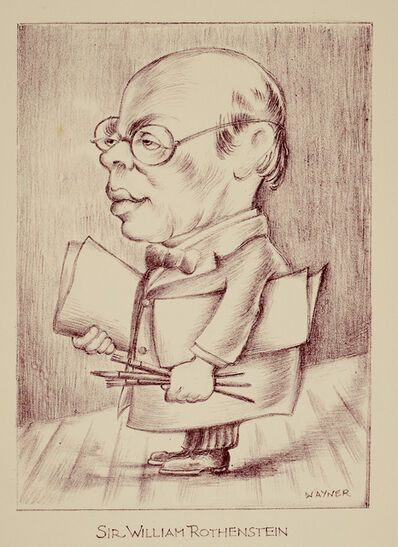 Mark Wayner, 'Celebrities in Caricature Portfolio, 27 of 37, Sir William Rothenstein', ca. 1940