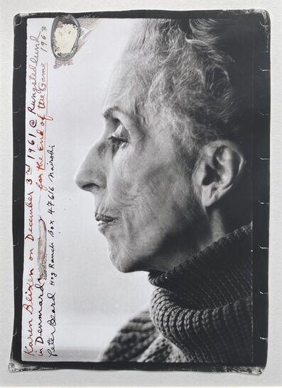 Peter Beard, 'Karen Blixen, Rundstedlund, Denmark, 1961', 1961