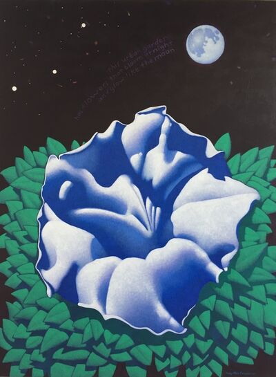 Ray-Mel Cornelius, 'Moonflower with Haiku', 2019
