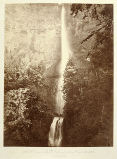 Carleton E. Watkins, 'Multnomah Falls, Columbia River, Oregon, 2500 feet.', 1867
