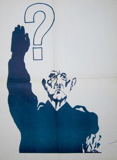 Anonymous, 'May '68 Poster  : De Gaulle Doing the Nazi Salute', 1968