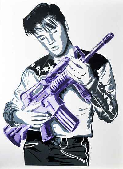 Mr. Brainwash, 'DON'T BE CRUEL (PURPLE)', 2009