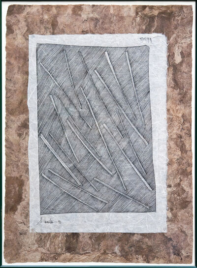 Myra Landau, 'Sin titulo dibujo (sobre papel amate)', 1991