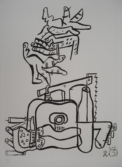 Le Corbusier, 'Unite, Hands and Architect Tools', 1965