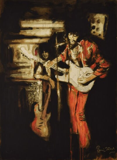 Ronnie Wood, 'Jimi and me at the scene club', 2013
