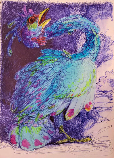 Laurie Hogin, 'Sketch for A Blue Bird Painting', 2020