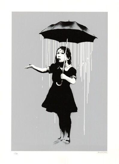Banksy, 'NOLA White Rain Signed, 2008', 2008