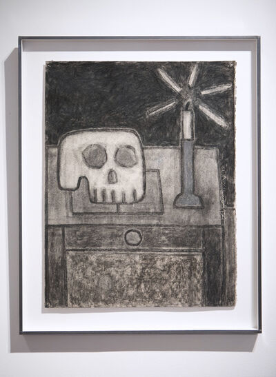 William Wright, 'Still Life with Candle, Skull and Book', 2020