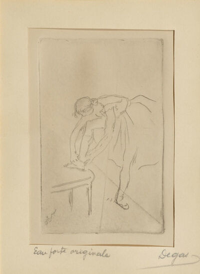 Edgar Degas, 'Danseuse mettant son chausson', ca. 1982